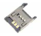 Konektor pro karty SIM bez vysouvacího mechanismu, s krytkou