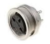 Konektor kulatý Řada C091A zásuvka zásuvka stříbřený PIN:3
