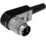 Konektor kulatý Řada C091A vidlice zástrčka stříbřený PIN:5