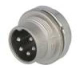 Konektor kulatý Řada C091A vidlice zásuvka stříbřený PIN:5