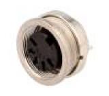 Konektor kulatý Řada C091A zásuvka zásuvka stříbřený PIN:5