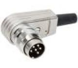 Konektor kulatý Řada C091A vidlice zástrčka stříbřený PIN:6