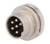 Konektor kulatý Řada C091A vidlice zásuvka stříbřený PIN:6