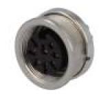 Konektor kulatý Řada C091A zásuvka zásuvka stříbřený PIN:8