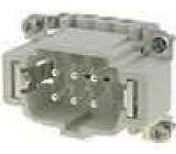 Konektor hranatý vidlice CNE PIN:6 6+PE velikost 44.27 16A