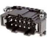 Konektor hranatý vidlice 180 °C 10+PE velikost 57.27 16A