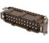 Konektor hranatý vidlice 180 °C 24+PE velikost 104.27 16A