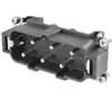 Konektor hranatý vidlice 180 °C PIN:6 velikost 77.27 35A