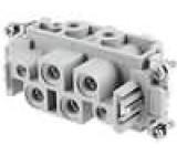 Konektor hranatý zásuvka CX PIN:6(4+2) velikost 77.27