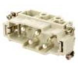 Konektor hranatý vidlice CX PIN:6(4+2) velikost 77.27