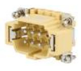 Konektor hranatý vidlice JEI PIN:6 6+PE velikost 44.27 16A