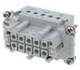 Konektor HTS zásuvka HTS HE 10 PIN10+PE velikost 4 16A 400V