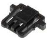 Zástrčka kabel-pl.spoj zásuvka PIN:2 bez kontaktů 1mm přímý
