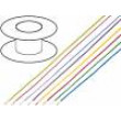 Kabel LiYv licna Cu 1mm2 PVC tmavomodrá 900V 100m
