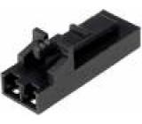 Zástrčka kabel-pl.spoj zásuvka PIN:2 bez kontaktů 2,54mm
