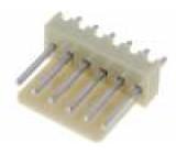 Zásuvka kabel-pl.spoj vidlice PIN:6 2,54mm THT NS25 250V 3A