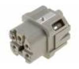 Konektor HAN zásuvka Han A 5 PIN 4+PE velikost 3A 10A 400V