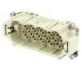 Konektor hranatý vidlice Han D PIN:40 40+PE velikost 16B