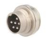 Konektor kulatý Řada: C091D vidlice zásuvka stříbřený PIN:6