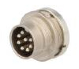 Konektor kulatý Řada: C091D vidlice zásuvka stříbřený PIN:8