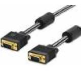 Kabel D-Sub 15pin vidlice, z obou stran černá 1,8m
