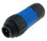 Konektor kulatý zástrčka s kabelovou objímkou vidlice PIN:4