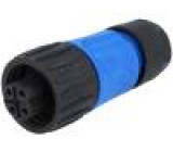 Konektor kulatý zástrčka s kabelovou objímkou zásuvka PIN:4