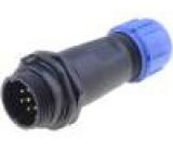 Konektor kulatý zástrčka SP13 vidlice PIN:7 IP68 125V pájení
