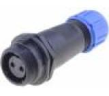Konektor kulatý zástrčka SP13 zásuvka PIN:2 IP68 250V pájení