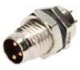 Konektor M8 vidlice PIN:3 do panelu, matice zepředu zásuvka
