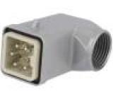 Konektor hranatý zástrčka vidlice 400V Pouz: velikost H-A 3