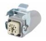 Konektor hranatý zástrčka zásuvka 400V Pouz: velikost H-A 3