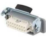 Konektor hranatý zásuvka zásuvka 250V Pouz: velikost H-A 16