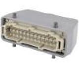 Konektor hranatý zástrčka vidlice 500V Pouz: velikost H-B 24