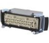 Konektor hranatý zástrčka zásuvka 500V Pouz: velikost H-B 24