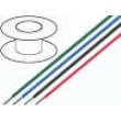 Kabel UL1015 licna Cu 1,32mm2 16AWG PVC červená 300V 30m
