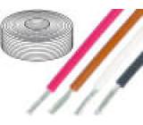 Kabel UL1007,UL1569 licna Cu 1,32mm2 16AWG PVC červená 300V