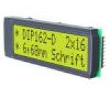 Zobrazovač: LCD alfanumerický STN Positive 16x2 LED 68x26,8mm