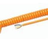 Kabel kroucený PUR oranžová 450/750V 0,3m 1,2m H07BQ-F