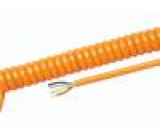 Kabel kroucený PUR oranžová 450/750V 0,5m 2m H07BQ-F