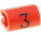 Kabelové značky pro kabely a vodiče Symbol štítku:3 PVC