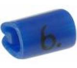 Kabelové značky pro kabely a vodiče Symbol štítku:6 PVC