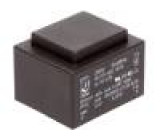 Transformátor: zalévaný 6VA 230VAC 12V 500mA Montáž: PCB 200g