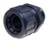 SILVYN-MPC-PG16 Koncový konektor přímý polyamid černá 16mm IP65 Závit: vnější
