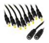 DC.SPL.0600.0035 Kabel DC 5,5/2,1 zásuvka, DC 5,5/2,1 zástrčka x5 9,5mm přímý