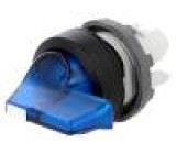 Přepínač: otočný 3 polohy 22mm modrá Podsv: MLB-1 -25÷70°C