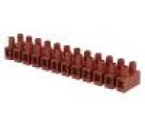 Svorkovnice póly:12 šroubová svorka s ochranou vodiče 4mm2