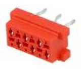 Zásuvka Micro-MaTch zásuvka PIN:6 THT na plošný spoj 1,5A