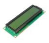 Zobrazovač: LCD alfanumerický STN Positive 16x2 zelená LED