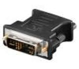 Adaptér D-Sub 15pin HD zásuvka, DVI-A (12+5) vidlice